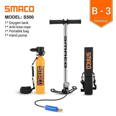 B-3 SMACO Diving Oxygen Tank With Pump  -  Cheap Surf Gear