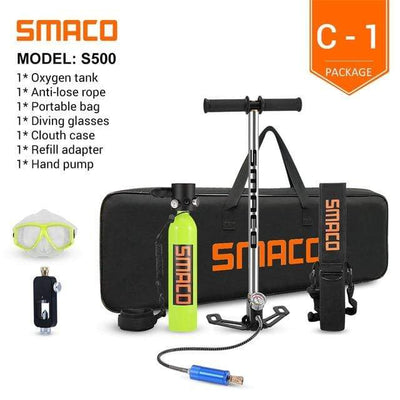 C-1 SMACO Diving Oxygen Tank With Pump  -  Cheap Surf Gear