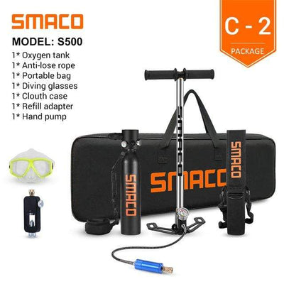 C-2 SMACO Diving Oxygen Tank With Pump  -  Cheap Surf Gear