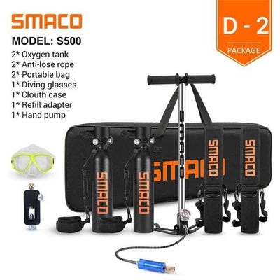 D-2 SMACO Diving Oxygen Tank With Pump  -  Cheap Surf Gear