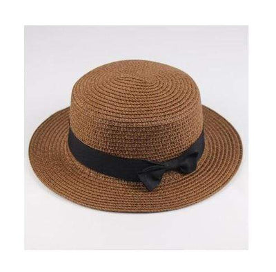 coffee / Adult size SUOGRY Beach Straw Hat  -  Cheap Surf Gear