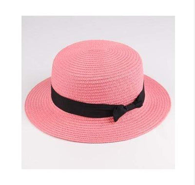 leather pink / Adult size SUOGRY Beach Straw Hat  -  Cheap Surf Gear