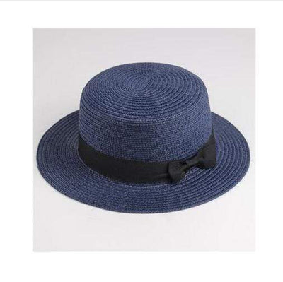 navy / Adult size SUOGRY Beach Straw Hat  -  Cheap Surf Gear