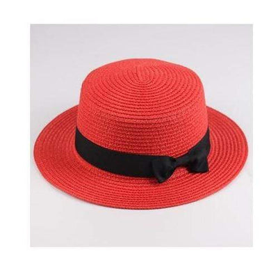 red / Adult size SUOGRY Beach Straw Hat  -  Cheap Surf Gear