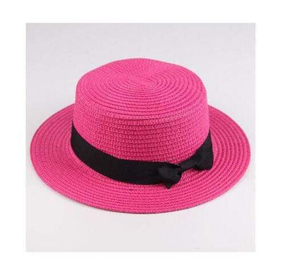 rose red / Adult size SUOGRY Beach Straw Hat  -  Cheap Surf Gear