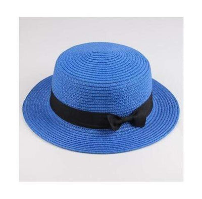 royal blue / Adult size SUOGRY Beach Straw Hat  -  Cheap Surf Gear