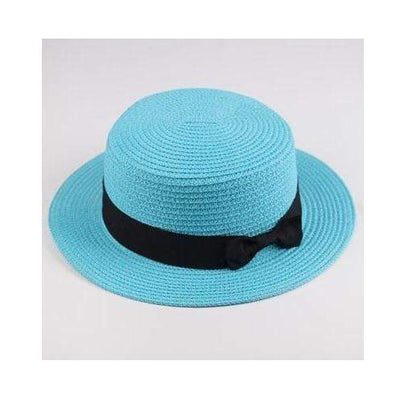 sky blue / Adult size SUOGRY Beach Straw Hat  -  Cheap Surf Gear