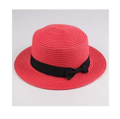 watermelon red / Adult size SUOGRY Beach Straw Hat  -  Cheap Surf Gear
