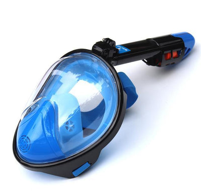 Regular- Blue / S/M SUPERZYY Face Snorkel Mask  -  Cheap Surf Gear