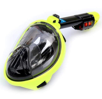 Regular- Lemon / S/M SUPERZYY Face Snorkel Mask  -  Cheap Surf Gear
