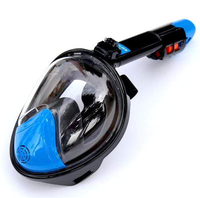 Regular- Navy / S/M SUPERZYY Face Snorkel Mask  -  Cheap Surf Gear