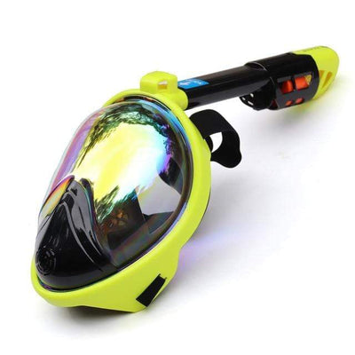 Plated-Yellow / S/M SUPERZYY Underwater Snorkel Mask  -  Cheap Surf Gear