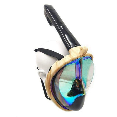 Wood stripe / S/M SUPERZYY Underwater Snorkel Mask  -  Cheap Surf Gear