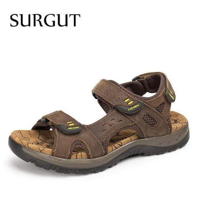 Dark Brown / 6.5 SURGUT Mens Summer Sandals  -  Cheap Surf Gear