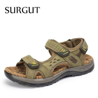 Green Khaki / 6.5 SURGUT Mens Summer Sandals  -  Cheap Surf Gear