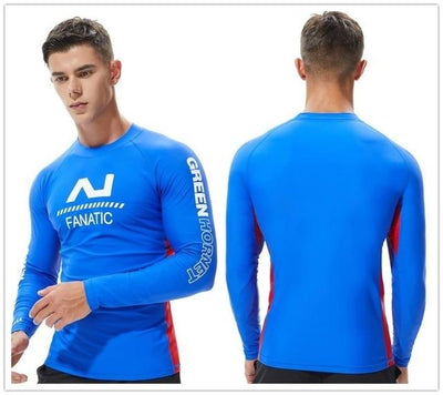 T19 Blue / S TAUWELL Mens UV Rash Vest  -  Cheap Surf Gear