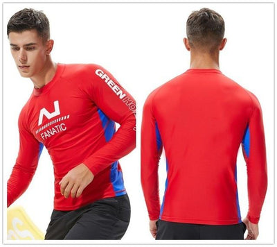 T19 Red / S TAUWELL Mens UV Rash Vest  -  Cheap Surf Gear
