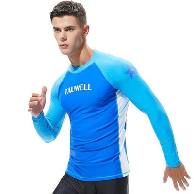 T20 Blue / S TAUWELL Mens UV Rash Vest  -  Cheap Surf Gear