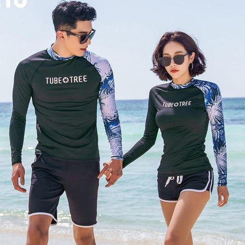 TUBE TREE Long Sleeve Rash Guard (With Shorts)