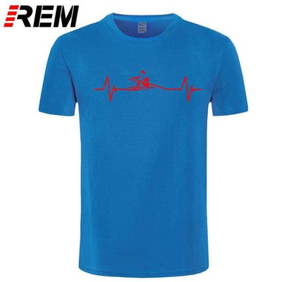 blue red / M UPTOAILEI Kayaking Tshirt  -  Cheap Surf Gear