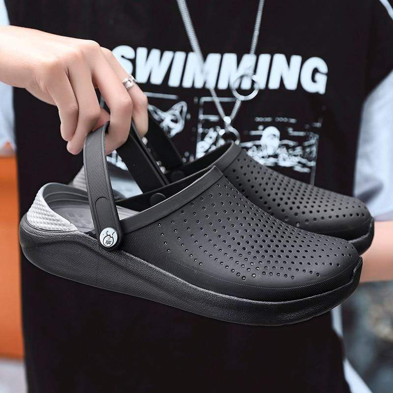 WARM LIKE HOME Black Crocs  -  Cheap Surf Gear
