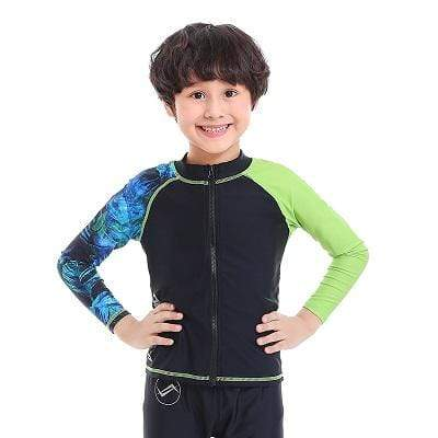 Palm Zip Up / M WATER PRO Boys Rash Guard  -  Cheap Surf Gear