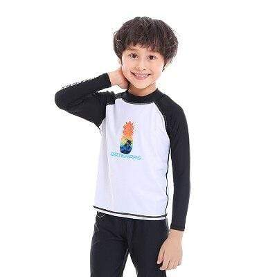 Pineapple / M WATER PRO Boys Rash Guard  -  Cheap Surf Gear
