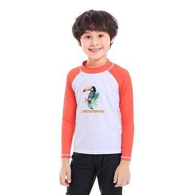 Toucan / M WATER PRO Boys Rash Guard  -  Cheap Surf Gear