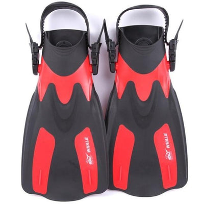 Red / L/XL WHALE Swimming Flippers  -  Cheap Surf Gear