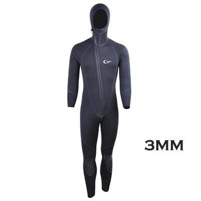 3MM-Black / L / China YON SUB 3MM/5MM Hooded Wetsuit  -  Cheap Surf Gear