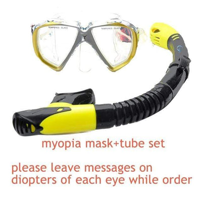 myopia mask set 2 YON SUB Mask And Snorkel Set  -  Cheap Surf Gear