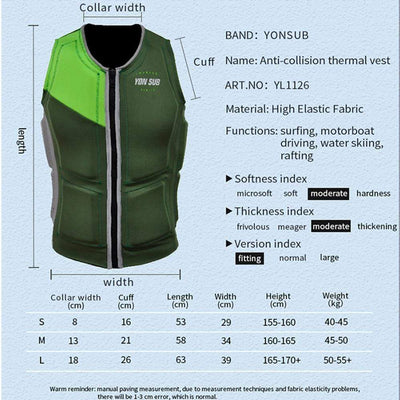 YON SUB Surfing Life Vest  -  Cheap Surf Gear
