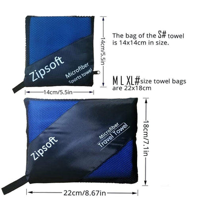 ZIPSOFT Microfiber Towel  -  Cheap Surf Gear