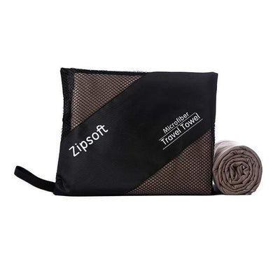 Brown / 90cm  180cm / China ZIPSOFT Microfiber Towel  -  Cheap Surf Gear