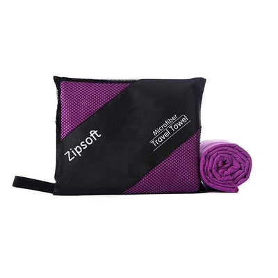 Purple / 80cm  160cm / China ZIPSOFT Microfiber Towel  -  Cheap Surf Gear