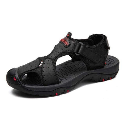 BLACK 01 / 6 ZUNYU Mens Beach Sandals  -  Cheap Surf Gear