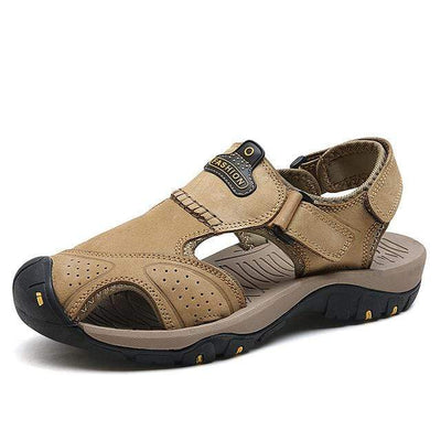 KHAKI / 6 ZUNYU Mens Beach Sandals  -  Cheap Surf Gear