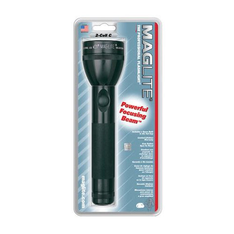 Maglite Heavy-Duty Incandescent 3-Cell D Flashlight, Black