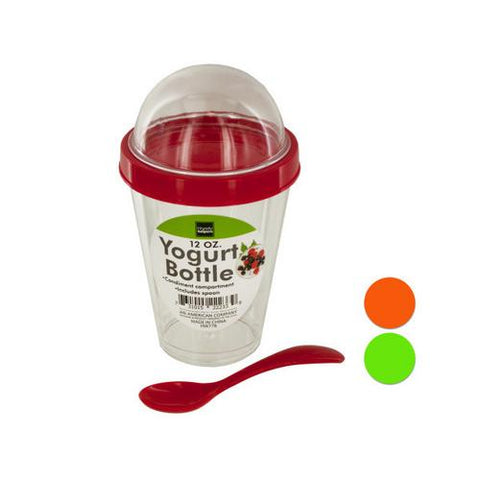 12 oz Yogurt Cup with Top Compartment & Spoon ( Case of 24 )