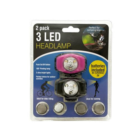 3 LED Headlamp Set ( Case of 16 )