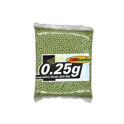 TSD Tactical Precision 6mm Plastic Airsoft BBs, 0.25g, 5,000 Rds, Low Visibility OliveDrab Green