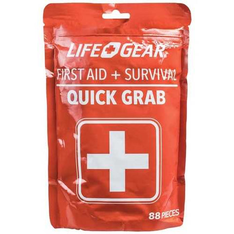 Life+gear 88-piece Quick Grab First Aid & Survival Kit (pack of 1 Ea)