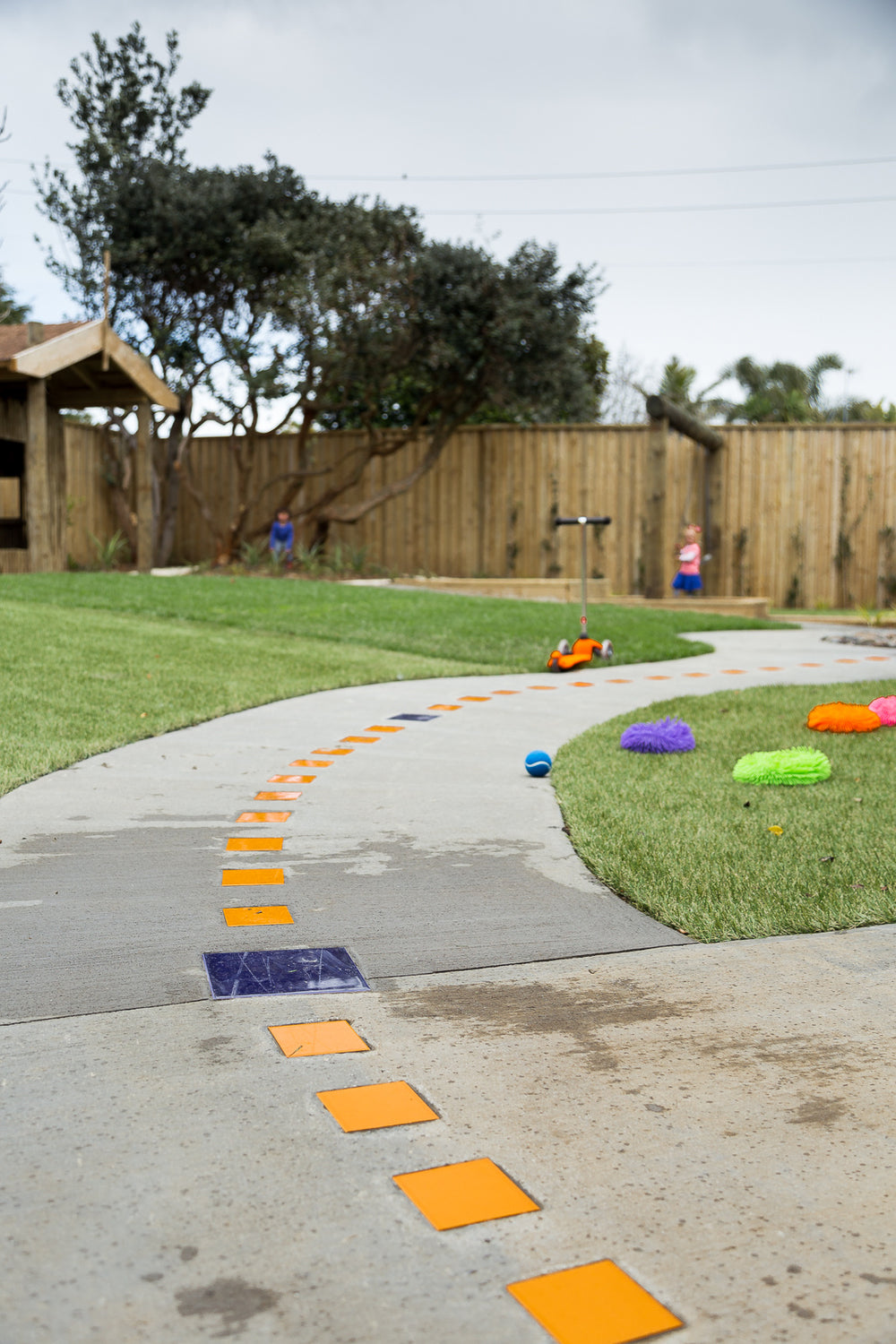 Image of the bike track outside at Spotted Frog Preschool