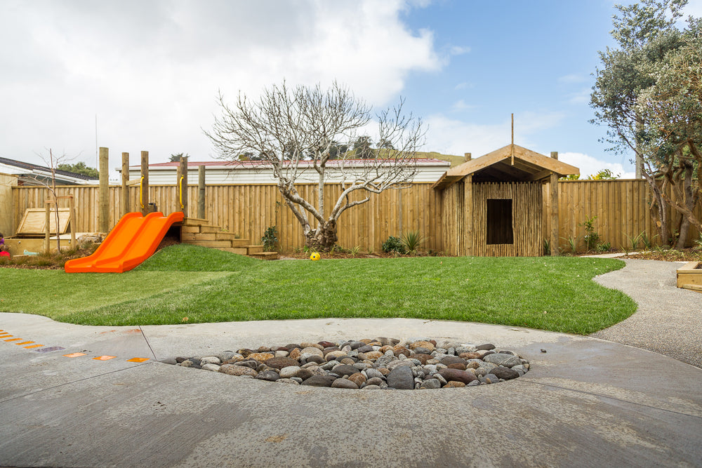 Image of the outdoor playground at Spotted Frog Preschool