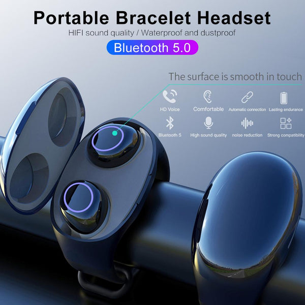 Bluetooth 5.0 Ear Bud Bracelet