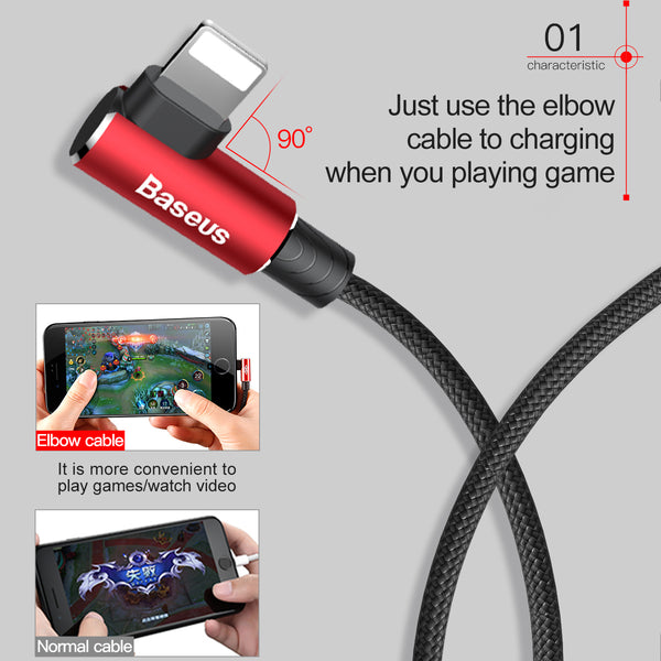 2-Pack 90 Degree USB Cable
