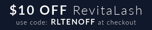 $10 off RevitaLash with code RLTENOFF