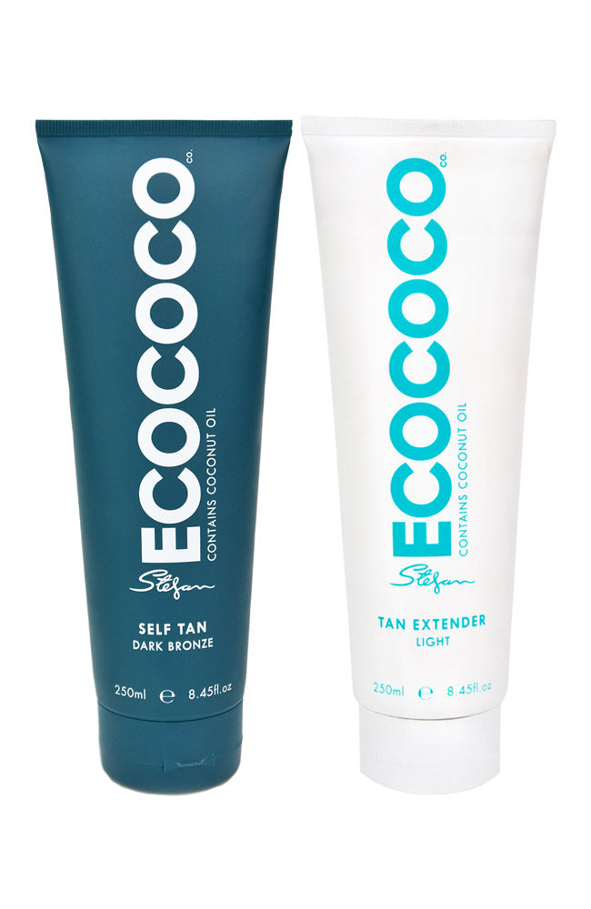 ECOCOCO self tan dark and tan extender duo pack
