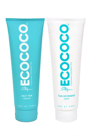 ECOCOCO self tan medium and tan extender duo pack