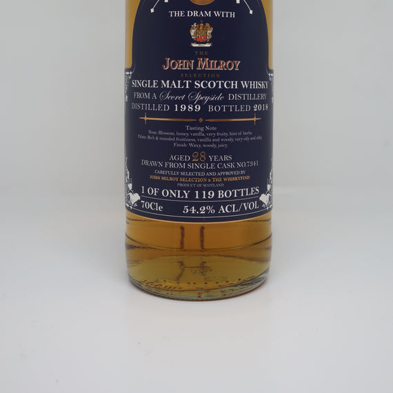 THE WHISKYFIND & JOHN MILROY'S SELECTION SECRET SPEYSIDE (GLENROTHES) 1989 28YO